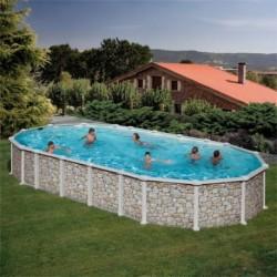 Сборный бассейн GRE Dream Pool PROV9188P (915х470х132) с облицовкой «под камень»