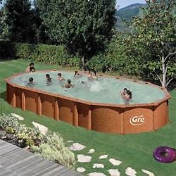 Сборный бассейн GRE Dream Pool PROV9188WO (915х470х132) с облицовкой «под дерево»