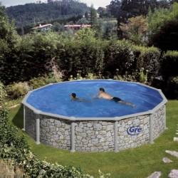 Сборный бассейн GRE Dream Pool PR558P (550x132) с облицовкой «под камень»