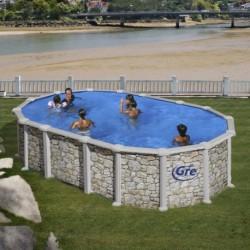Сборный бассейн GRE Dream Pool PROV6188P (610х375х132) с облицовкой «под камень»
