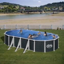 Сборный бассейн GRE Dream Pool PROV738RT (730х375х132) с облицовкой «под ротанг»