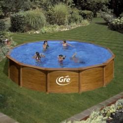 Сборный бассейн GRE Dream Pool PR558WO (550x132) с облицовкой «под дерево»