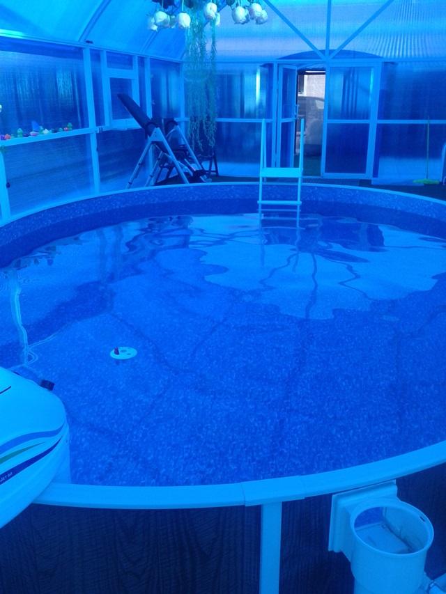 бассейн каркасный небольшого размера